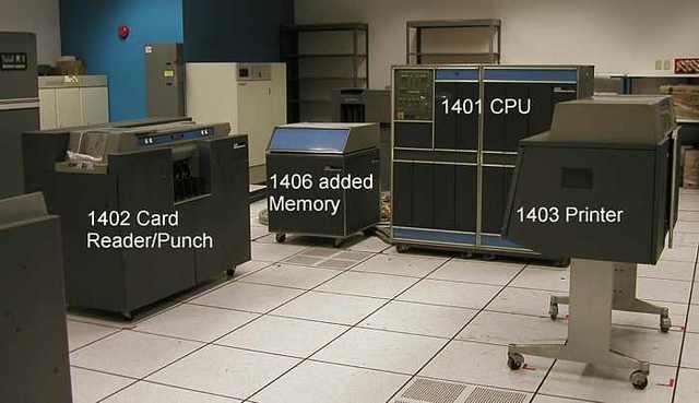 Lanzamiento del IBM 1401