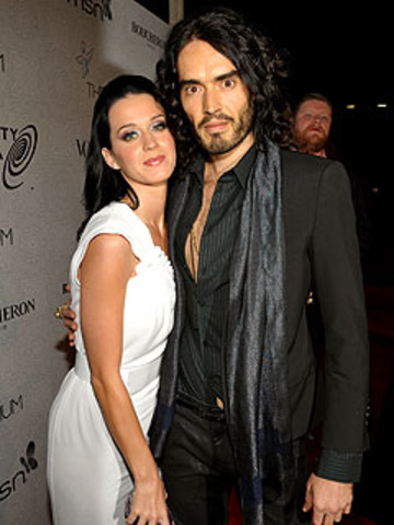 Katy and Russel Brand