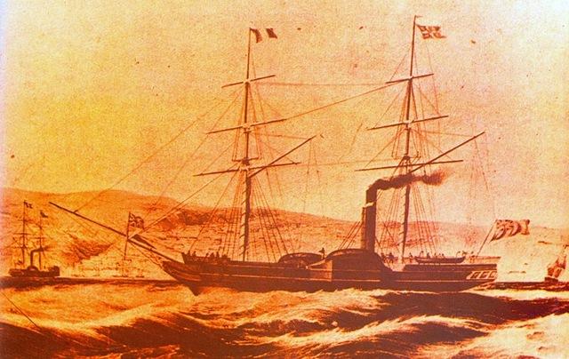 Empezó la navegación a vapor en las costas del Perú