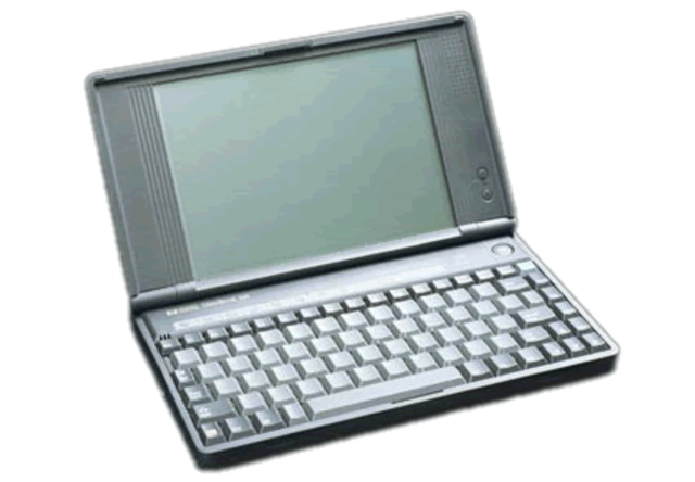 """HP introduced the full fledged  """"super portable"""" palm top alike computer: the HP OmniBook 300"""