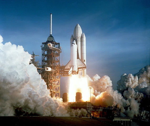 First Space Shuttle is Launched