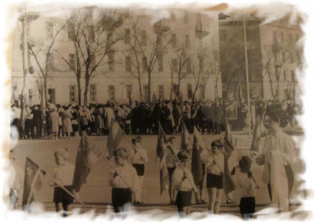 Демонстрация на площади им.Ленина