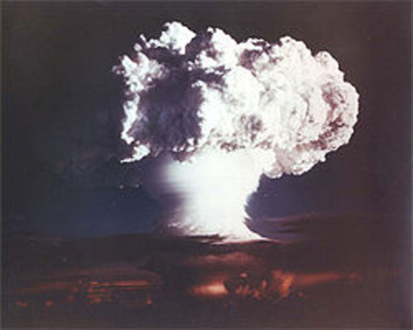 The first H bomb tested