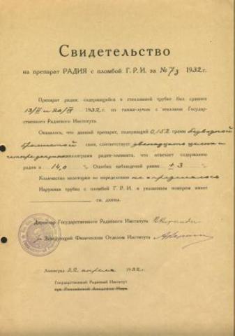 Создание Радиевого института в Петрограде
