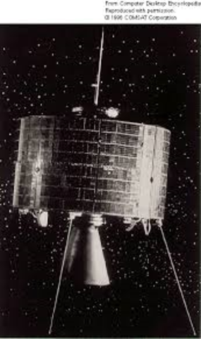 The first commercial satellite is launched