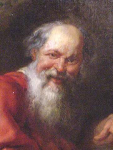 Democritus thinks that there are atoms and void.
