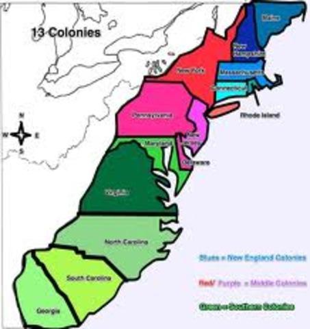 13 Colonies Timeline Timetoast Timelines