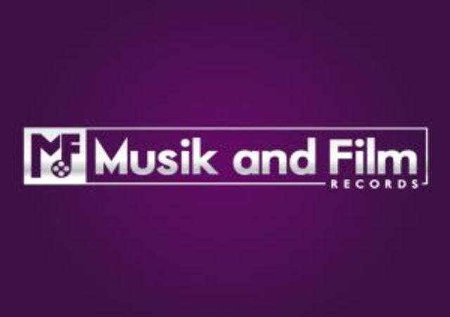 The Blue News Sign with Musik & Film Records
