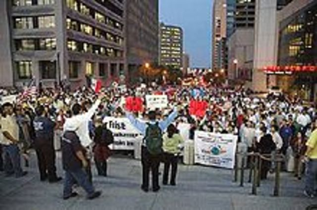 Reform Protests Begin