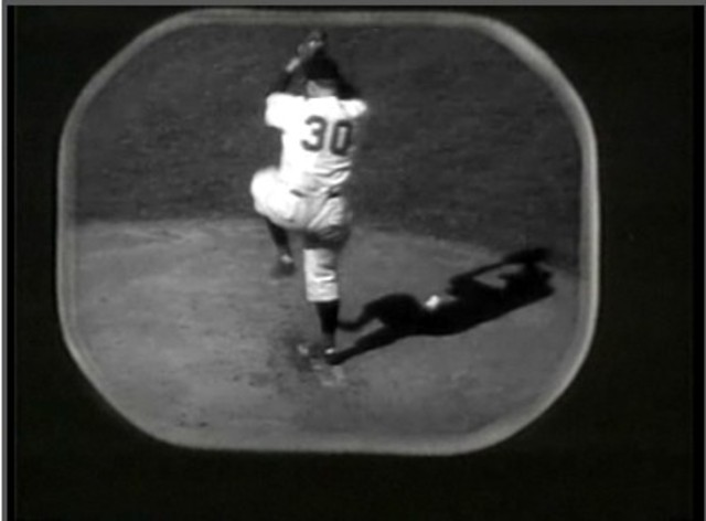 The first televised baseball game
