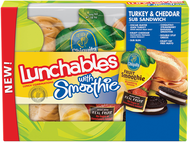 Fruit Smoothies Added to Lunchables