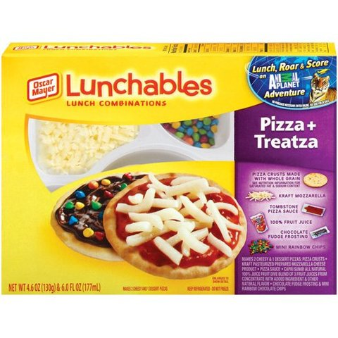 Lunchables with dessert