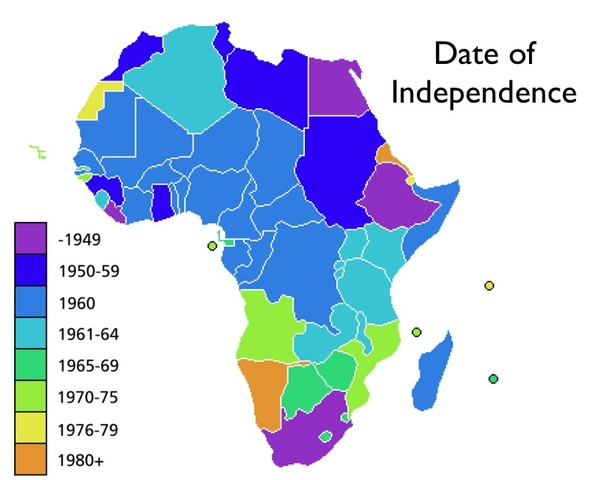 African-Independence-Map Powers Forms Examples on presidential executive,