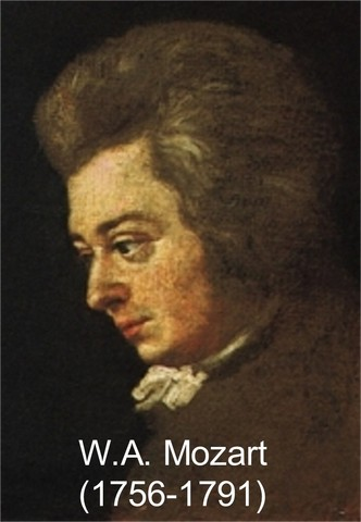 Mozart finished his first symphony.