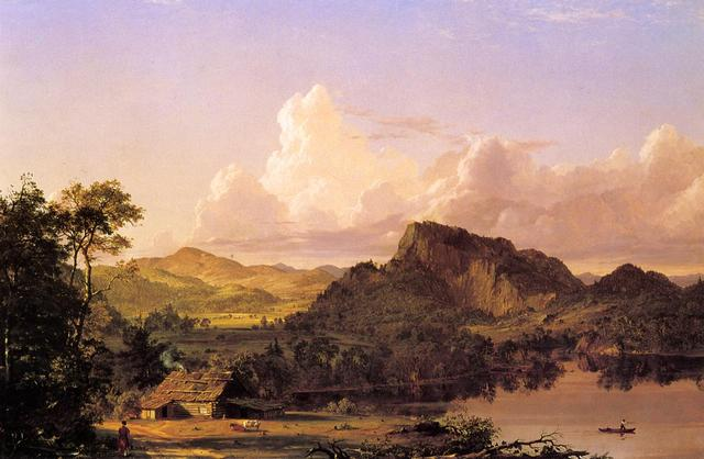 Home by the Lake by Frederic Edwin Church is painted