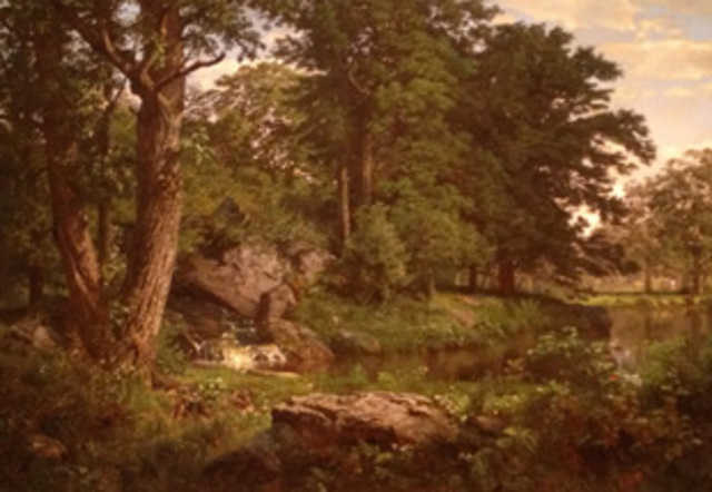 Landscape by William Trost Richards is painted