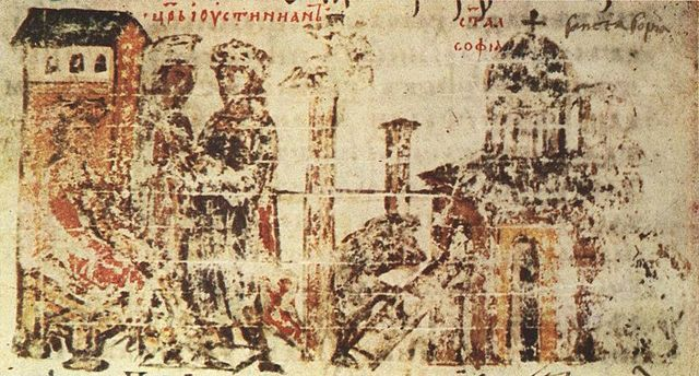 Justinian Orders new church to be built