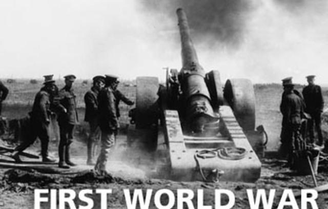 World War 1 begins in Europe