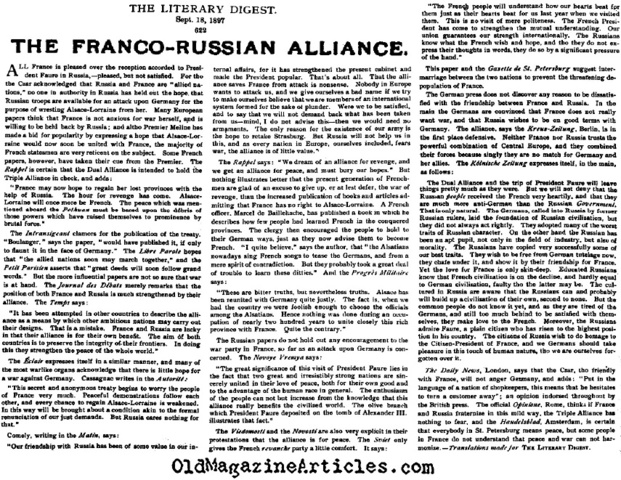 the role of dual alliance in the 1870 franco prussian war 1870 sweden jews and catholics were allowed to run for public office, although in order to become a minister one had to be a member of the swedish state church.