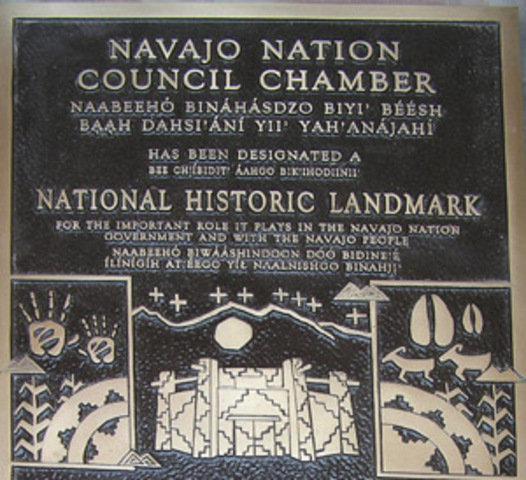 Navajo Tribal Council Created