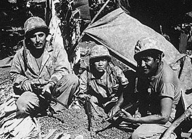 Marine Navajo Code Talkers in World War II