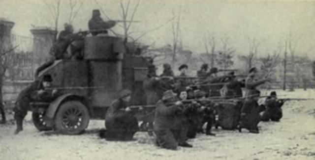 Revolution and civil war began in russia
