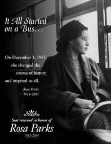 Rosa Parks And The Boycott Act Timeline Timetoast Timelines
