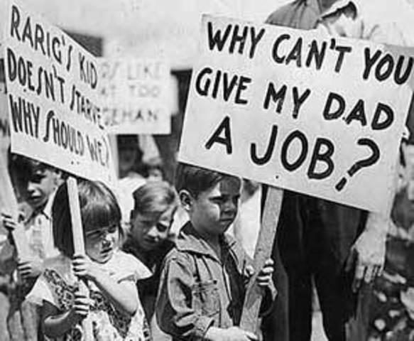 Great Depression begins when stock markets crash in major cities