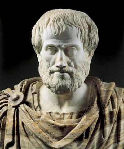 Aristotle died.