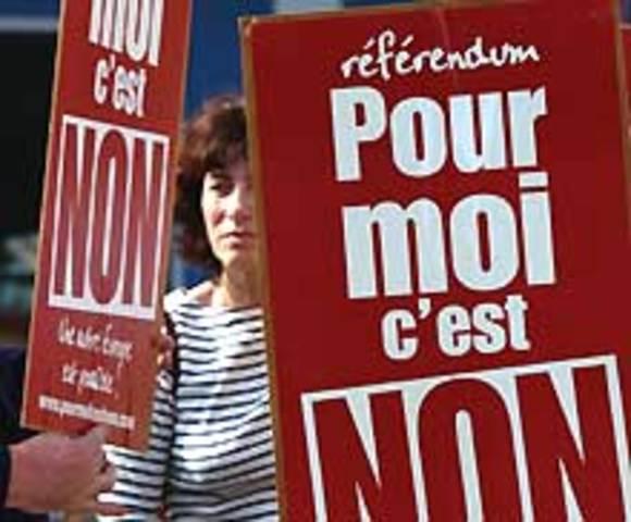 Rejet français du projet de Constitution européenne