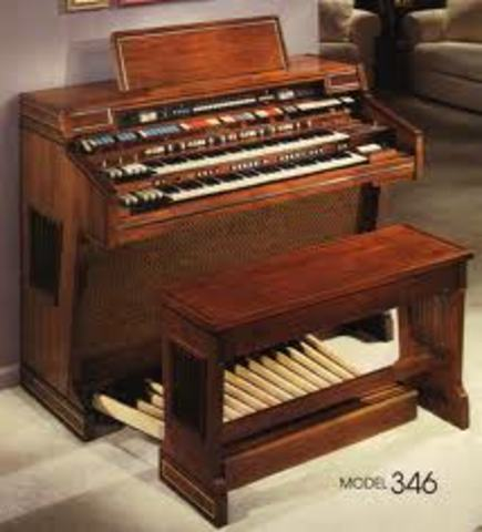 The Hammond Organ was invented