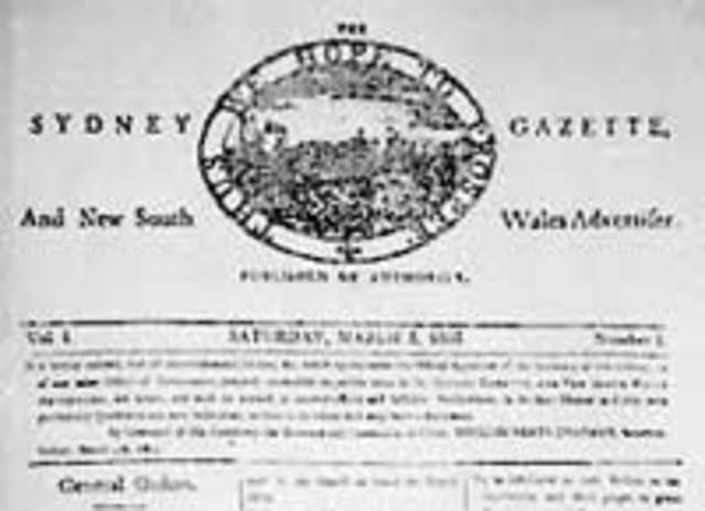The First newspaper published in Australia