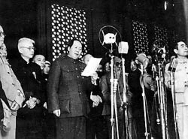 Mao Zedong Proclaims People's Republic of China