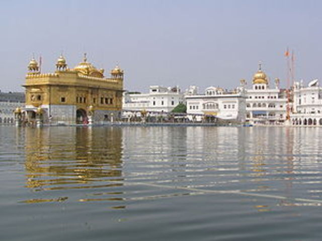Attack on the golden temple in Amritsar, India