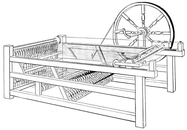 Hargreaves spinning jenny.