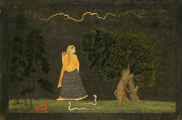 Abhisarika Nayika (The Herione Who Rushes to Meet Her Lover)