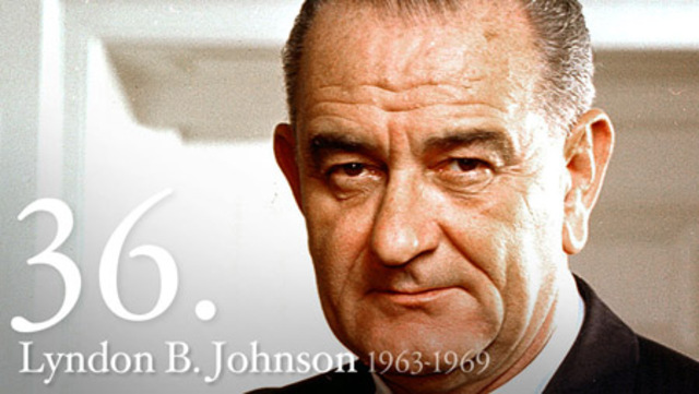 Lyndon B. Johnson takes office