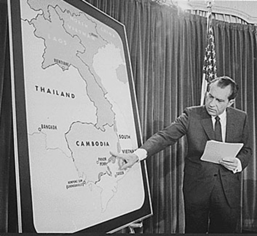 Nixon orders invasion of Cambodia