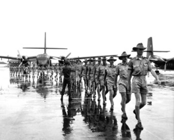 U.S Combat Troops Arrive in Vietnam