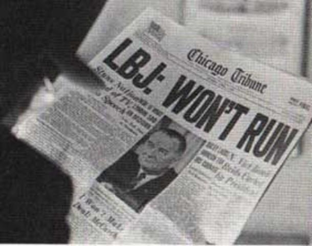 Lyndon B. Johnson Withdraws