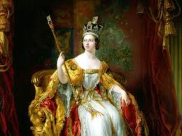 Queen Victoria becomes Queen of the UK
