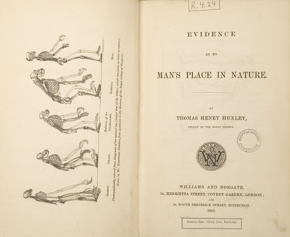 Huxley's Publication of Evidence as to Man's Place in Nature