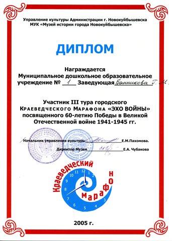 Достижения коллектива 2005 год