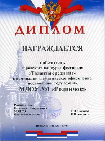 Достижения коллектива 2008 год