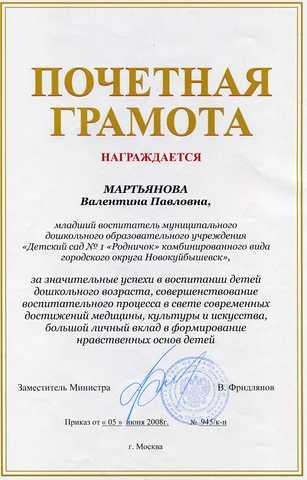 Достижения сотрудников 2008 год