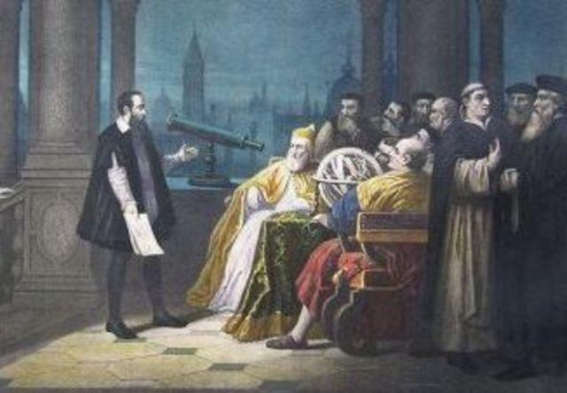 Galileo builds telescope