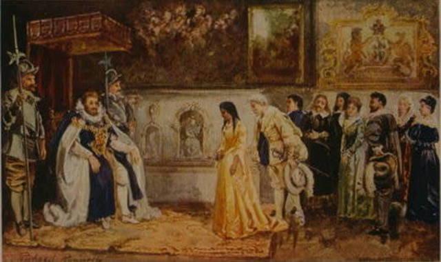 Pocahontas visits king of England