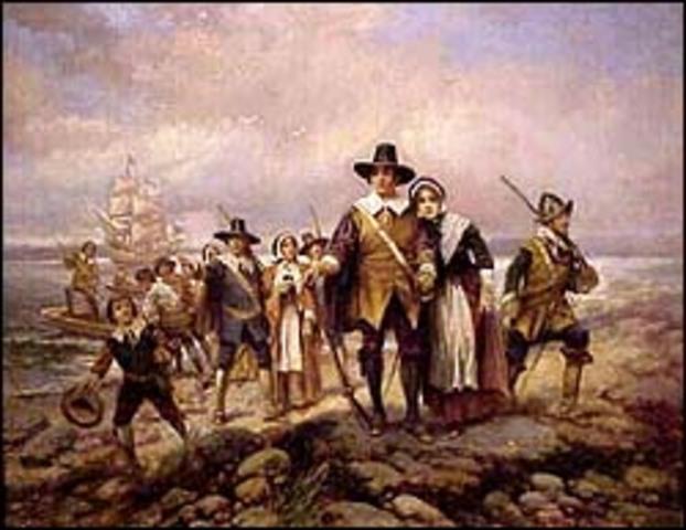 Pilgrims arrive in Massachusetts