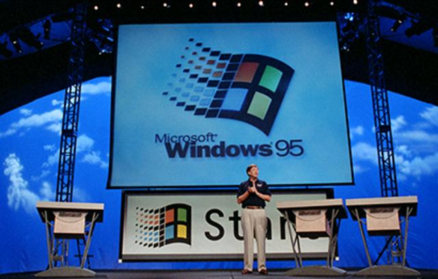 1995–2001: Windows 95 — эпоха компьютеров достигает своего расцвета (и появляется Интернет)