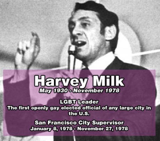 Gay Rights Activist Harvey Milk To Receive Memorial In San Francisco